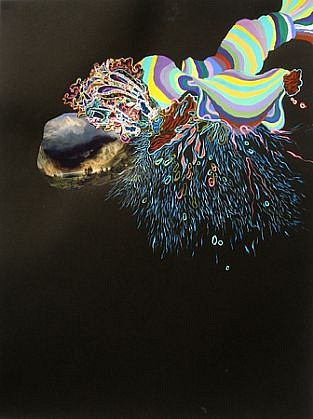 Jackie Tileston, Phenomorama No. 2 2008, Gouache and mixed media on paper