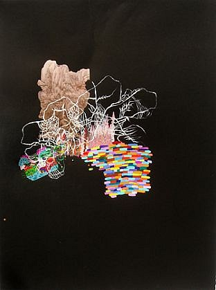 Jackie Tileston, Phenomorama No. 5 2008, Gouache and mixed media on paper