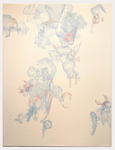 Todd Camplin, Blue Fall 2014-15, Ink on paper