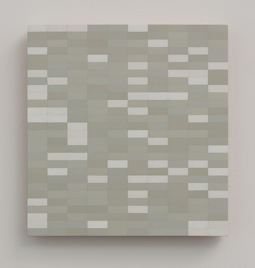 Douglas Leon Cartmel ,   WHITE NOISE #11  ,  2016     Oil on baltic birch panel ,  10 1/2 x 10 in.     DCA-011