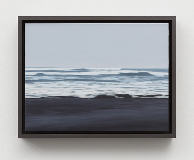 Douglas Leon Cartmel, Oceania- Foggy Beach 2016, Oil on titanium panel