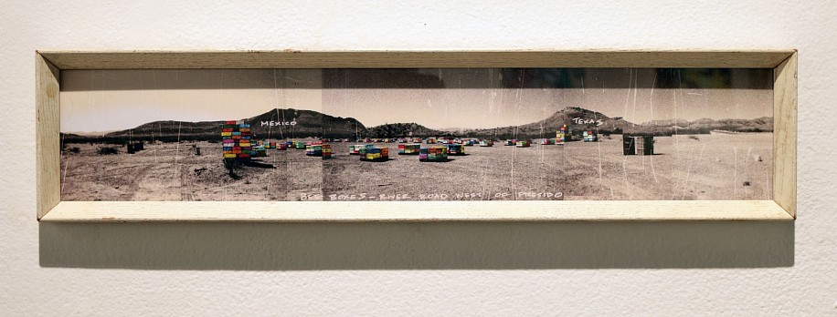 Kim Cadmus Owens, Mirage: Emigration/Immigration 2016, ink on paper under acrylic in wood frame