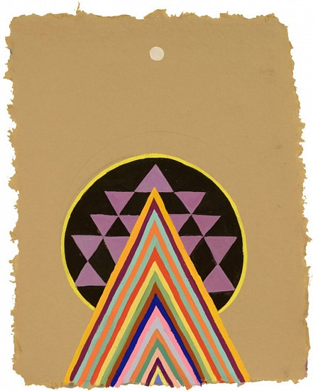 Jackie Tileston ,   Tantra Drawing #15  ,  2018     Gouache on paper ,  11 1/2 x 9 in.     JTI-073